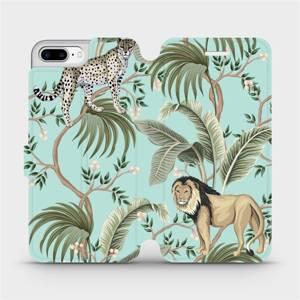 Flip pouzdro Mobiwear na mobil Apple iPhone 7 Plus - MP08S Dvě kočičky