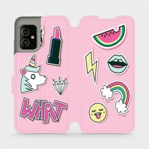 Flip pouzdro Mobiwear na mobil Asus Zenfone 8 - M129S Růžové WHAT