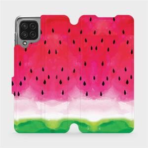 Flip pouzdro Mobiwear na mobil Samsung Galaxy M22 - V086S Melounek