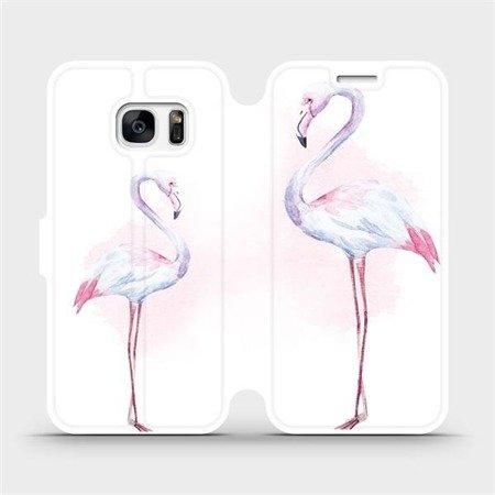 Flipové pouzdro Mobiwear na mobil Samsung Galaxy S7 - M005S Plameňáci