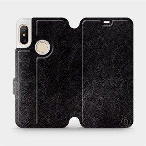 Flipové pouzdro Mobiwear na mobil Xiaomi Mi A2 Lite v provedení C_BLS Black&Gray s šedým vnitřkem
