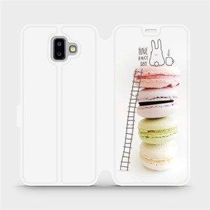 Flipové pouzdro Mobiwear na mobil Samsung Galaxy J6 Plus 2018 - M090P Makronky - have a nice day