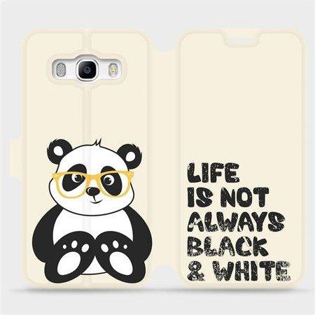 Flipové pouzdro Mobiwear na mobil Samsung Galaxy J5 2016 - M041S Panda - life is not always black and white