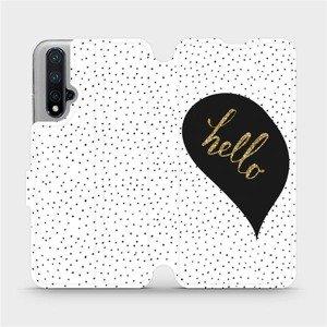 Flipové pouzdro Mobiwear na mobil Honor 20 - M013P Golden hello