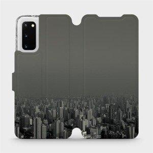 Flipové pouzdro Mobiwear na mobil Samsung Galaxy S20 - V063P Město v šedém hávu