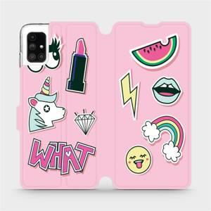 Flipové pouzdro Mobiwear na mobil Samsung Galaxy M51 - M129S Růžové WHAT