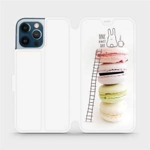 Flipové pouzdro Mobiwear na mobil Apple iPhone 12 Pro Max - M090P Makronky - have a nice day