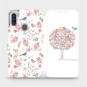 Flipové pouzdro Mobiwear na mobil Samsung Galaxy M11 - M120S Strom a ptáčci