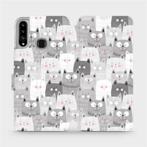 Flipové pouzdro Mobiwear na mobil Samsung Galaxy A20S - M099P Kočičky
