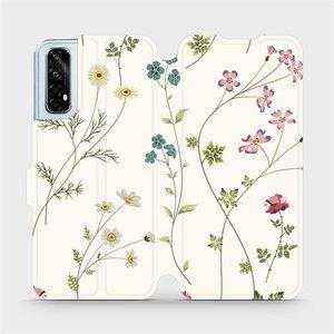 Flipové pouzdro Mobiwear na mobil Realme 7 - MD03S Tenké rostlinky s květy