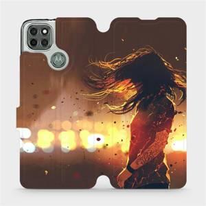 Flipové pouzdro Mobiwear na mobil Motorola Moto G9 Power - MA02S Tetovaná dívka