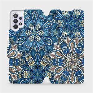 Flipové pouzdro Mobiwear na mobil Samsung Galaxy A32 5G - V108P Modré mandala květy