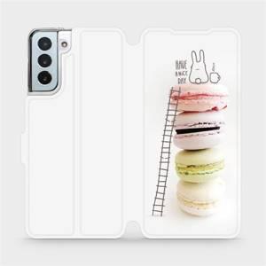 Flipové pouzdro Mobiwear na mobil Samsung Galaxy S21 Plus 5G - M090P Makronky - have a nice day