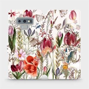 Flip pouzdro Mobiwear na mobil Samsung Galaxy Note 9 - MP01S Rozkvetlá louka