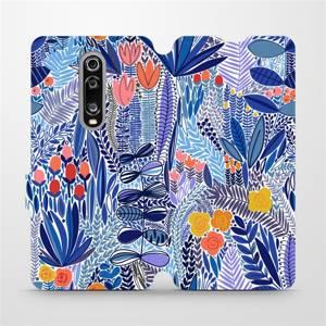 Flip pouzdro Mobiwear na mobil Xiaomi Mi 9T - MP03P Modrá květena