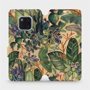 Flip pouzdro Mobiwear na mobil Huawei Mate 20 Pro - VP05S Sukulenty