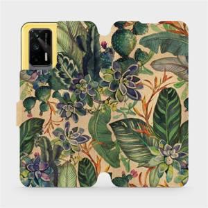 Flip pouzdro Mobiwear na mobil Realme GT 5G - VP05S Sukulenty
