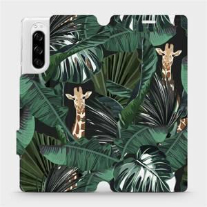 Flip pouzdro Mobiwear na mobil Sony Xperia 5 - VP06P Žirafky