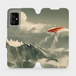 Flip pouzdro Mobiwear na mobil Asus Zenfone 8 - MA03P Oranžové letadlo v horách