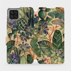 Flip pouzdro Mobiwear na mobil Samsung Galaxy A22 4G - VP05S Sukulenty