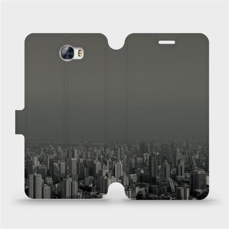 Flipové pouzdro Mobiwear na mobil Huawei Y6 II Compact - V063P Město v šedém hávu
