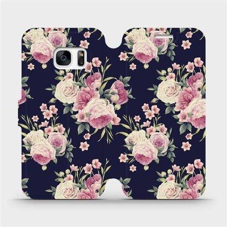 Flipové pouzdro Mobiwear na mobil Samsung Galaxy S7 Edge - V068P Růžičky
