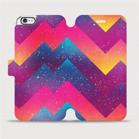 Flipové pouzdro Mobiwear na mobil Apple iPhone 6 / iPhone 6s - V110S Barevné klikyháky
