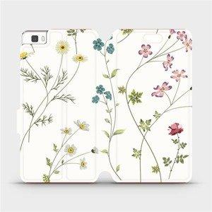 Flipové pouzdro Mobiwear na mobil Huawei P8 Lite - MD03S Tenké rostlinky s květy