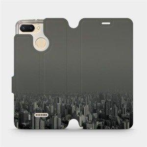 Flipové pouzdro Mobiwear na mobil Xiaomi Redmi 6 - V063P Město v šedém hávu