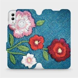 Flipové pouzdro Mobiwear na mobil Honor 10 Lite - MD05P Džínové květy