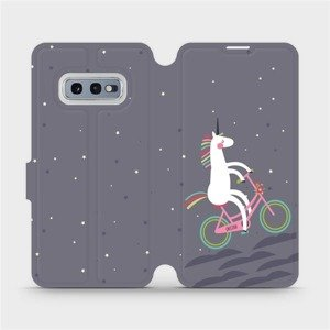 Flipové pouzdro Mobiwear na mobil Samsung Galaxy S10e - V024P Jednorožec na kole
