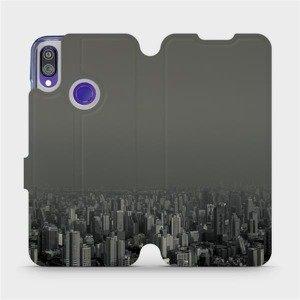 Flipové pouzdro Mobiwear na mobil Xiaomi Redmi Note 7 - V063P Město v šedém hávu