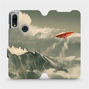 Flipové pouzdro Mobiwear na mobil Xiaomi Redmi 7 - MA03P Oranžové letadlo v horách