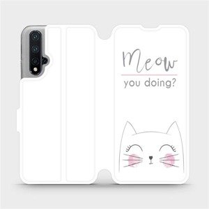 Flipové pouzdro Mobiwear na mobil Honor 20 - M098P Meow you doing?