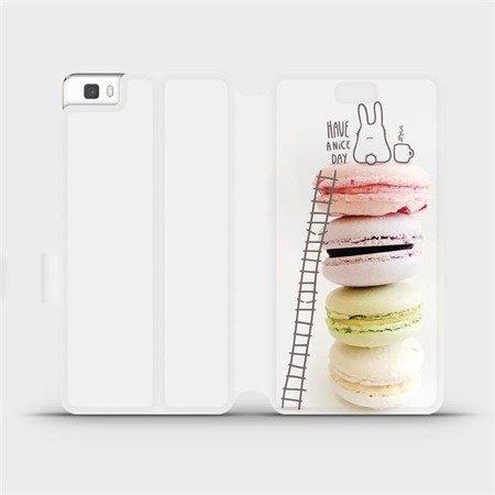 Flipové pouzdro Mobiwear na mobil Huawei P8 Lite - M090P Makronky - have a nice day