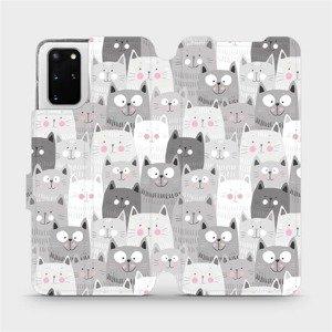 Flipové pouzdro Mobiwear na mobil Samsung Galaxy S20 Plus - M099P Kočičky