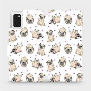 Flipové pouzdro Mobiwear na mobil Samsung Galaxy A41 - M097P Mopsíci