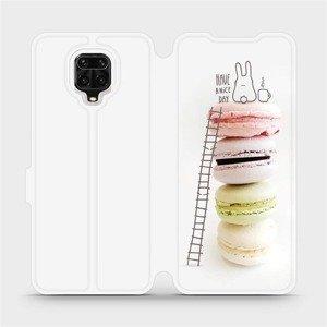 Flipové pouzdro Mobiwear na mobil Xiaomi Redmi Note 9 Pro - M090P Makronky - have a nice day