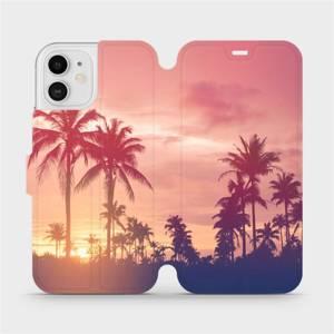 Flipové pouzdro Mobiwear na mobil Apple iPhone 12 - M134P Palmy a růžová obloha