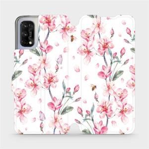Flipové pouzdro Mobiwear na mobil Realme 7 5G - M124S Růžové květy