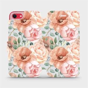 Flip pouzdro Mobiwear na mobil Apple iPhone SE 2020 - MP02S Pastelové květy