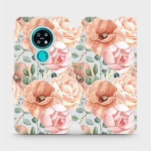 Flip pouzdro Mobiwear na mobil Nokia 7.2 - MP02S Pastelové květy