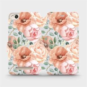 Flip pouzdro Mobiwear na mobil Xiaomi Redmi 4A - MP02S Pastelové květy