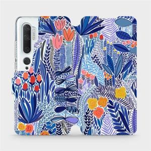 Flip pouzdro Mobiwear na mobil Xiaomi Mi Note 10 - MP03P Modrá květena