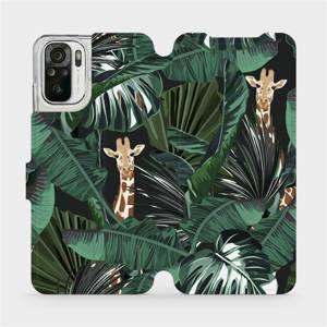 Flip pouzdro Mobiwear na mobil Xiaomi Redmi Note 10s - VP06P Žirafky