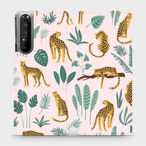 Flip pouzdro Mobiwear na mobil Sony Xperia 1 II - MP07S Leopardi