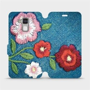 Flipové pouzdro Mobiwear na mobil Honor 7 Lite - MD05P Džínové květy