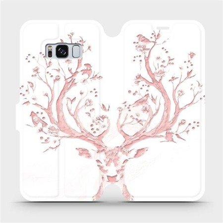 Flipové pouzdro Mobiwear na mobil Samsung Galaxy S8 - M007S Růžový jelínek