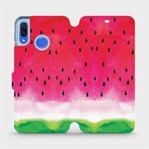 Flipové pouzdro Mobiwear na mobil Huawei Nova 3 - V086S Melounek