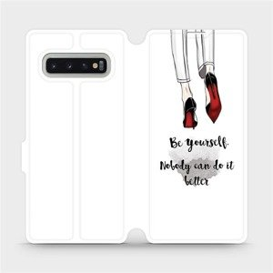 Flipové pouzdro Mobiwear na mobil Samsung Galaxy S10 Plus - M046P Be yourself